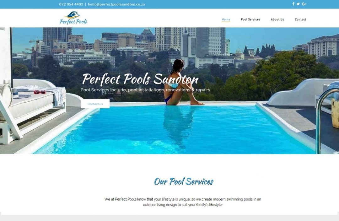 Swimming Pool Website